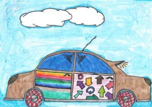 La voiture de papa par Irène