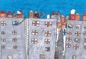 Gabin sur les toits par Paul